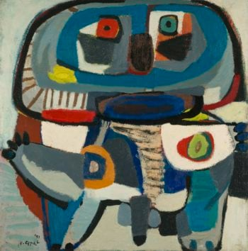 The Square Man. 1951 | Karel Appel | oil painting