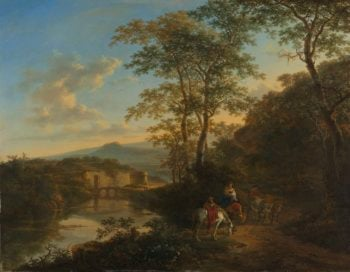 Italian Landscape with the Ponte Molle. 1640 - 1652 | Jan Both | oil painting