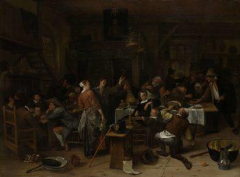 Prince's Day. 1660 - 1679 | Jan Havicksz. Steen | oil painting