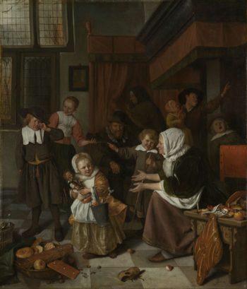 The Feast of St Nicholas. 1665 - 1668 | Jan Havicksz. Steen | oil painting