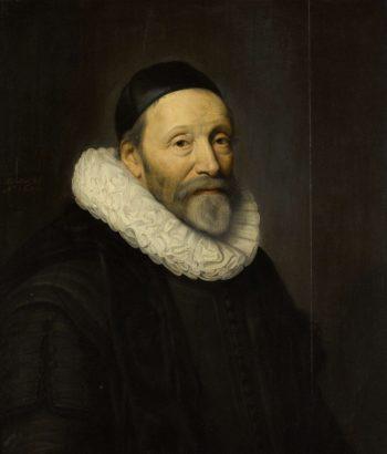 Portrait of John Wtenbogaert (1557-1644). 1632 | Michiel Jansz. van Mierevelt | oil painting