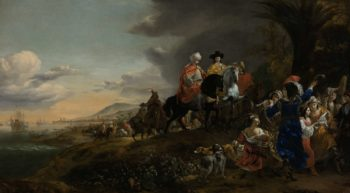 The Dutch Ambassador on his Way to Isfahan. 1653 - 1659 | Jan Baptist Weenix | oil painting