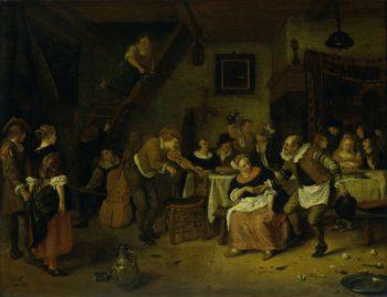 Peasant. 1672 | Jan Havicksz. Steen | oil painting