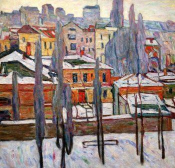 Pskov Snow | Abraham A Manievich | oil painting