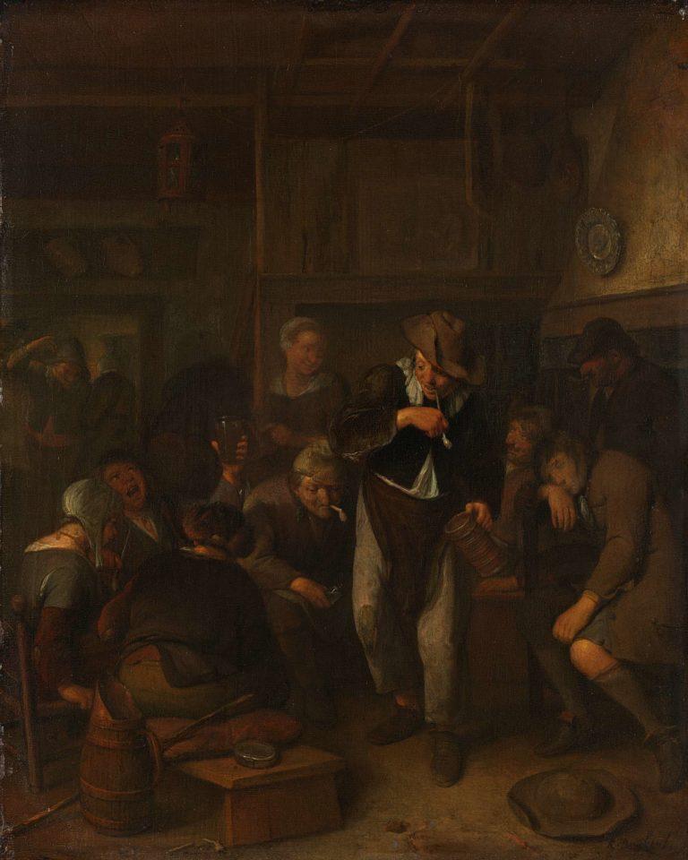 Country inn.. 1660 - 1702   Richard Brakenburg   oil painting