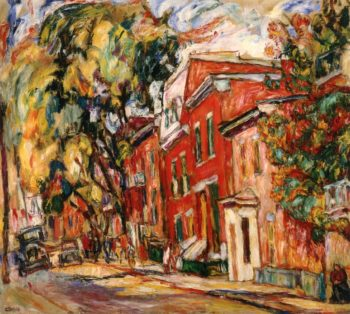 Red Houses | Abraham A Manievich | oil painting