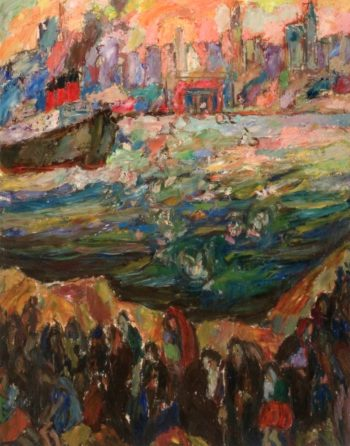 Refugees   Abraham A Manievich   oil painting