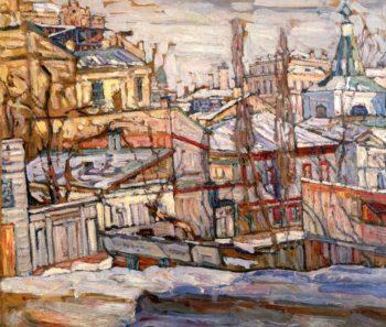 Snow Kiev   Abraham A Manievich   oil painting