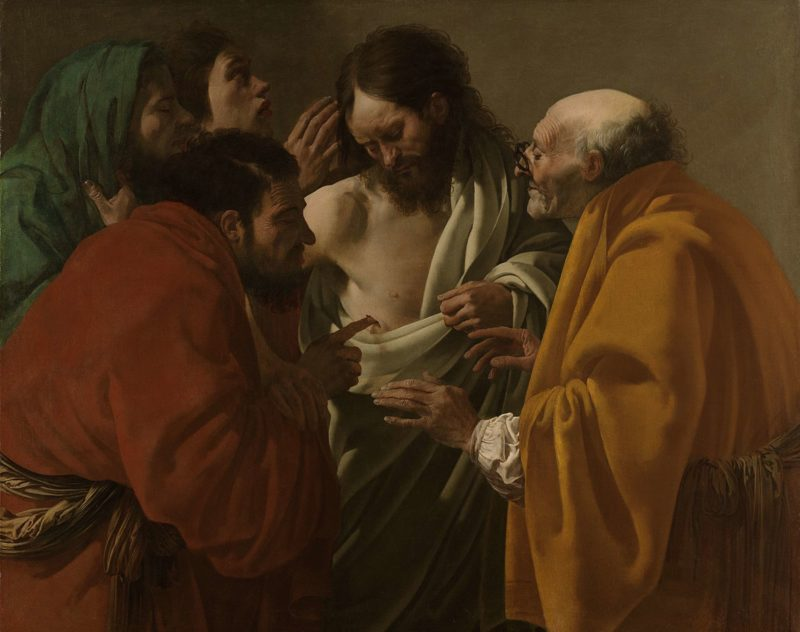 The Incredulity of Thomas. ca. 1622 | Hendrick ter Brugghen | oil painting