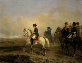 Emperor Napoleon I and his staff on horseback. 1810 - 1850 | Horace Vernet | oil painting