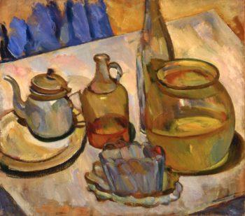 Still Life Bowl Teapot | Abraham A Manievich | oil painting