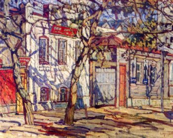 Street Scene | Abraham A Manievich | oil painting