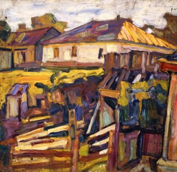 Study Village   Abraham A Manievich   oil painting
