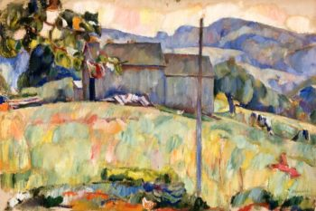 Summer Landscape   Abraham A Manievich   oil painting