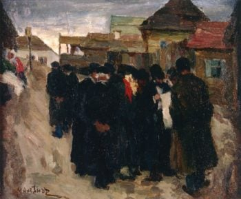 Talk of Pogrom | Abraham A Manievich | oil painting
