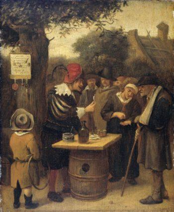 The quack. 1650 - 1679 | Jan Havicksz. Steen | oil painting