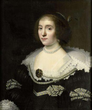 Portrait of Amalia van Solms (1602-75). in or after c. 1632 | Michiel Jansz. van Mierevelt | oil painting