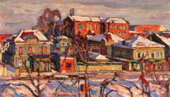 Urban Landscape | Abraham A Manievich | oil painting