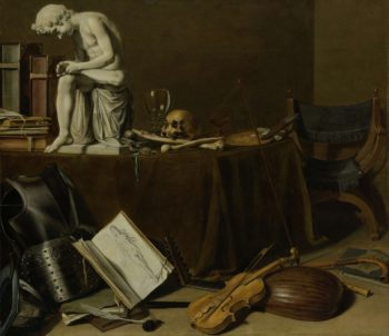 Vanitas Still Life with the Spinario. 1628 | Pieter Claesz. | oil painting