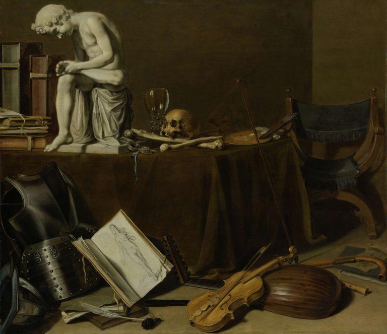 Vanitas Still Life with the Spinario. 1628   Pieter Claesz.   oil painting