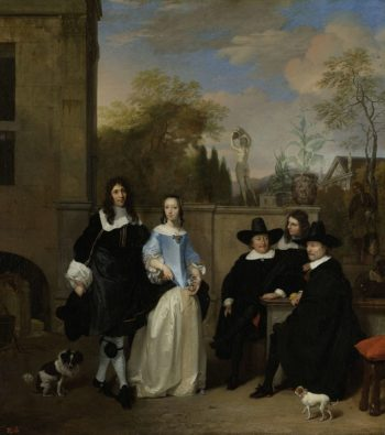 A party in a garden. 1661 | Barend Graat | oil painting