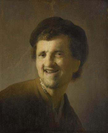 Bust of a smiling young man. ca. 1629 - ca. 1630 | Rembrandt Harmensz. van Rijn | oil painting