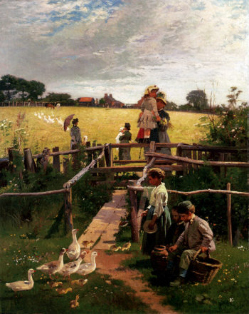 At The Stile | Alexander Mark Rossi | oil painting
