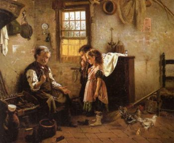 A Visit to the Cobbler | Alexander Mark Rossi | oil painting