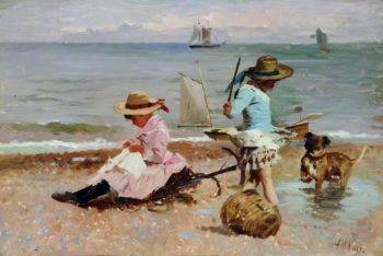 Children at Play | Alexander Mark Rossi | oil painting