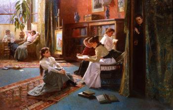 Forbidden Books | Alexander Mark Rossi | oil painting