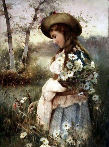 Gathering Marguerites | Alexander Mark Rossi | oil painting