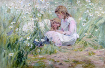 Girls in the Meadow | Alexander Mark Rossi | oil painting
