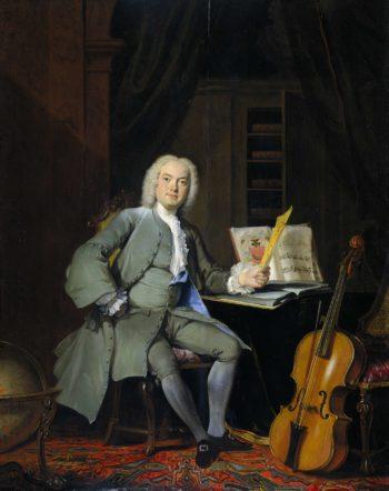 Portrait of a Member of the Van der Mersch Family. 1736   Cornelis Troost   oil painting