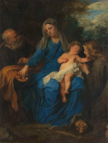 The Holy Family with Mary Magdalene. ca. 1620 - ca. 1700 | Anthony van Dyck | oil painting