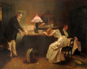 Interior Scene with Figures | Alexander Mark Rossi | oil painting