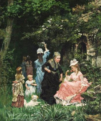 In the Garden | Alexander Mark Rossi | oil painting