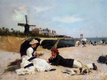 On the Beach | Alexander Mark Rossi | oil painting