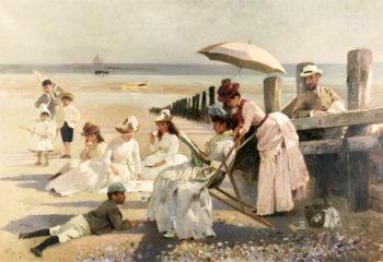 On the Shores of Bognor Regis | Alexander Mark Rossi | oil painting