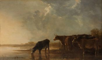 River landscape with cows. 1640 - 1650 | Aelbert Cuyp | oil painting