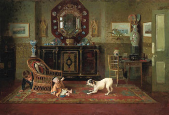 Playtime | Alexander Mark Rossi | oil painting