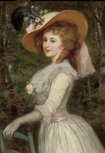 Portrait of an elegant lady | Alexander Mark Rossi | oil painting