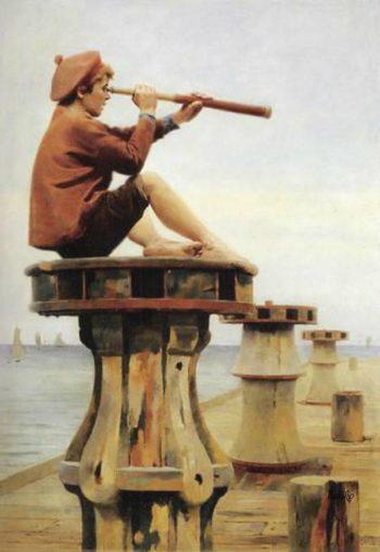 Ship Ahoy | Alexander Mark Rossi | oil painting