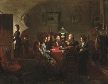 The Card Game | Alexander Mark Rossi | oil painting