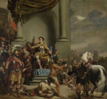 Orders the Consul Titus Manlius Torquatus Beheading of his Son. 1661 - 1664 | Ferdinand Bol | oil painting
