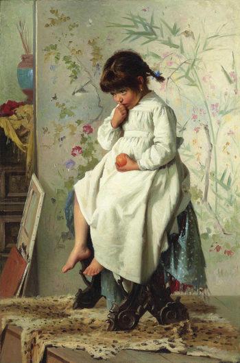 The Little Model | Alexander Mark Rossi | oil painting