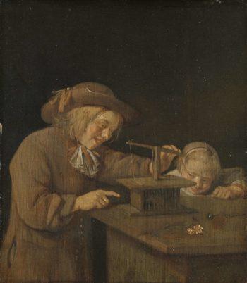 The mousetrap. 1660   Quiringh Gerritsz. van Brekelenkam   oil painting