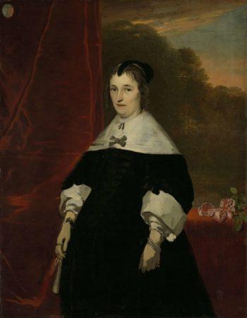 Machteld Bass (gest 1681). Wife of Abraham de Visscher. 1667 - 1672 | Abraham van den Tempel | oil painting