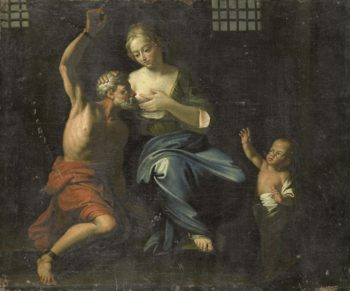 Cimon and Pero. 1670 - 1750 | Adriaen van der Werff | oil painting