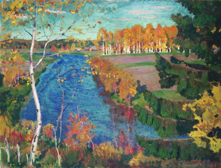 Autumn on the Tosna River | Arkady Rylov | oil painting