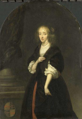 Jacoba Bicker (1640-95). Wife of Pieter de Graeff. 1663 | Caspar Netscher | oil painting